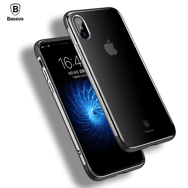detailed look 89c32 50f91 US $6.73 31% OFF|Case For iphone X Case Baseus Luxury Soft TPU Silicone  Phone Cases For iphone X Cover color Luxury Carbon Fiber For iphoneX  Case-in ...