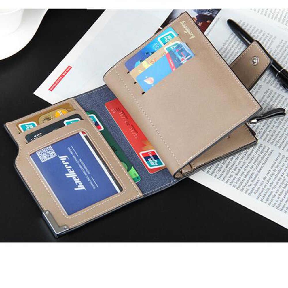 Известный Бренд портфель небольшой короткая натуральная кожа мужчины бумажник мужской клатч Портмоне деньги мешок человек Cuzdan держателя карты Portomonee