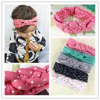 Lovely Polka Dot Baby Girls Bows Head wrap Twist braided Serratula headband for children kids hair accessories 12Pcs/lot