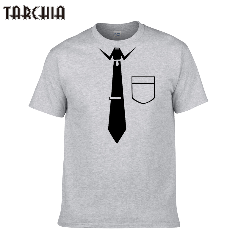 TARCHIA 2018 new tops tees men short sleeve boy casual homme tshirt t shirt plus fashion summer neck tie premium t-shirt cotton