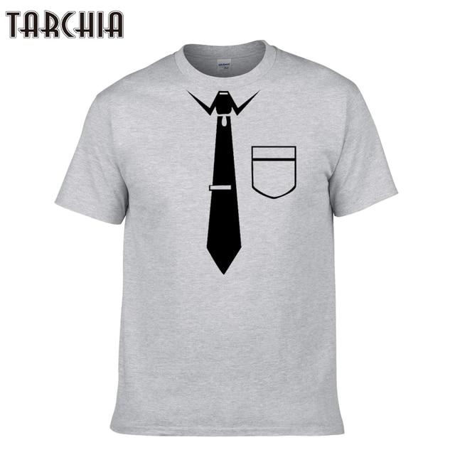 TARCHIA 2018 nova homens cobre t manga curta menino ocasional homme tshirt t plus shirt moda verão gravata prémio t-shirt de algodão