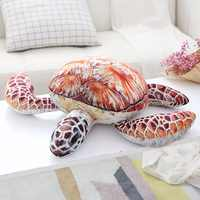 1pc Lovely Ocean Sea Turtle Plush Toys Soft Tortoise Stuffed Animal Dolls Pillow Cushion Gifts For Kids