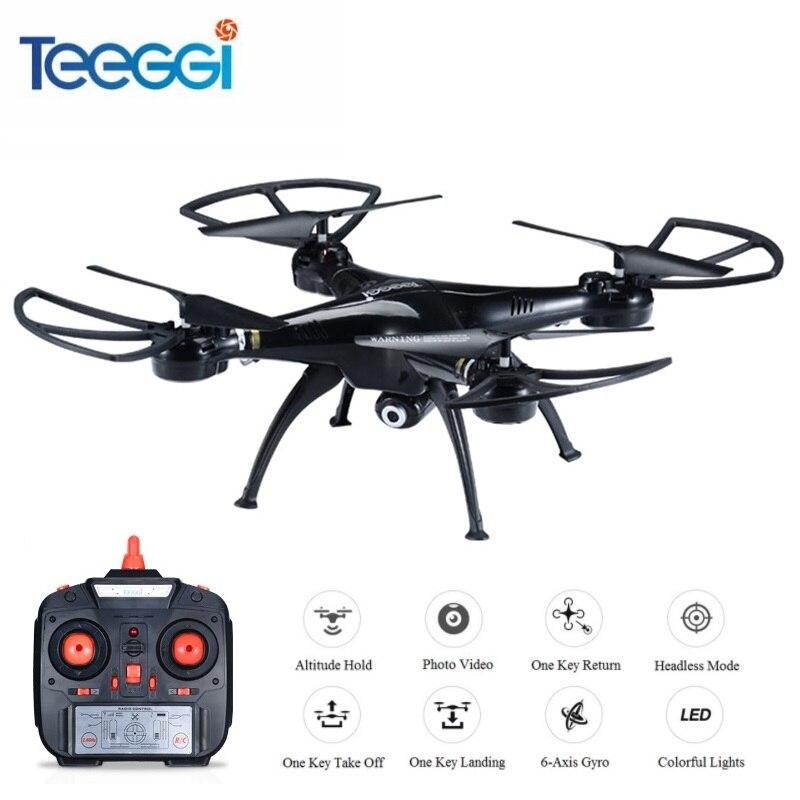 Teeggi M5A RC Drone Avec 5MP 1080 p HD Caméra 6-Axe Télécommande Jouets Hélicoptère Quadcopter Profissional Dron VS SYMA X5C X5HW