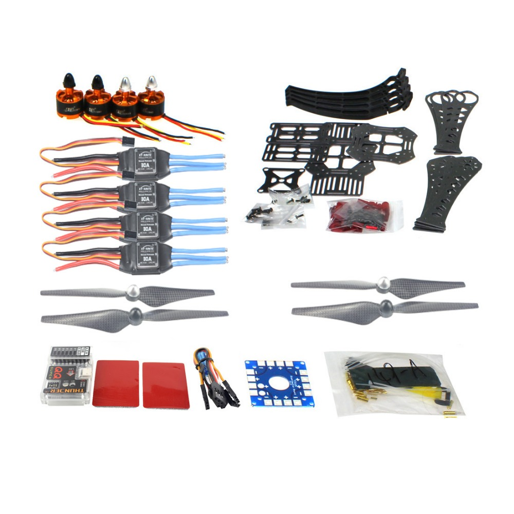 DIY RC Drone Quadrocopter X4M360L Frame Kit QQ Super Flight Control F14892-E diy rc drone quadrocopter arf with gimbal frame kit qq super fs i6 tx f14892 j