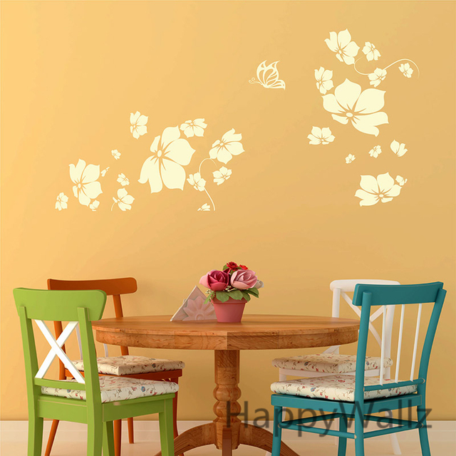 Large Flower Wall Sticker 3D Beautiful Flower Wall Decal DIY ...
