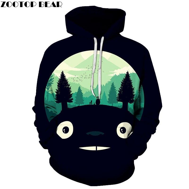 Anime Hoodies 3D Totoro Printed Hoodies Men Women Sweatshirts Fashion Pullover Casual Tracksuits Brand Drop Ship ZOOTOP BEAR