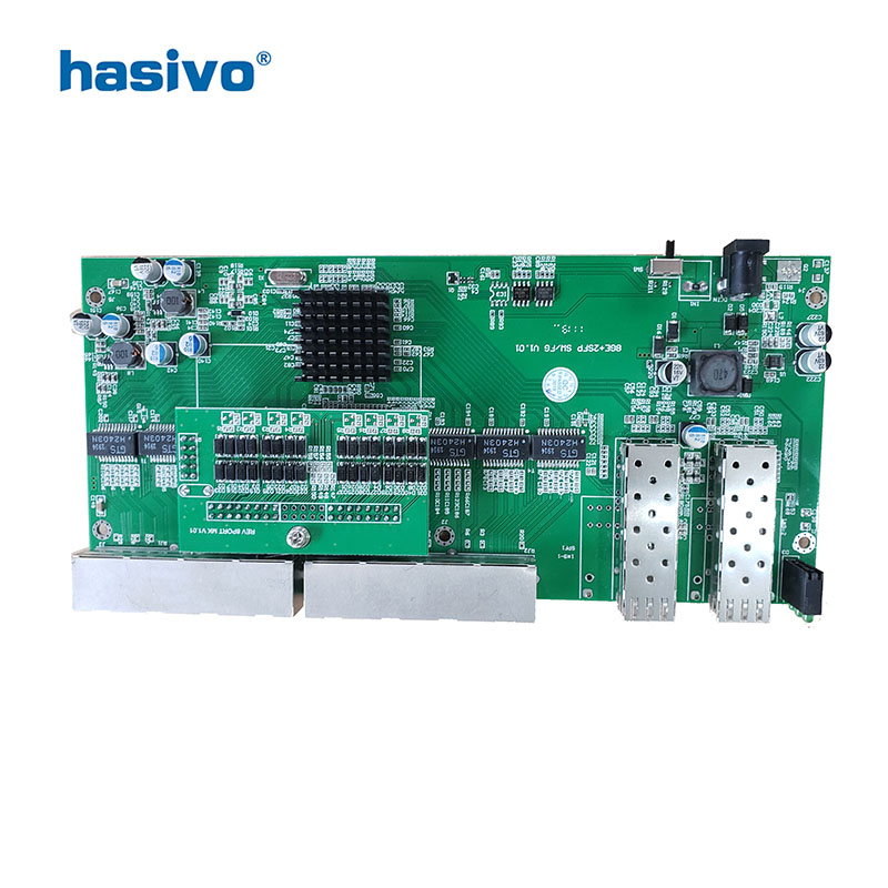 Image 3 - Reverse  PoE switch  8x10M/100M/1000M Port & 2 SFP  Gigabit Ethernet switch  PCB motherboard-in Network Switches from Computer & Office