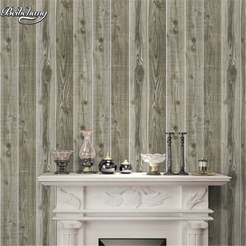 beibehang Retro simulation wood grain wallpaper 3D three - dimensional tree pattern wood clothing shop Internet cafes wallpaper beibehang 3d stereo simulation wood grain pvc thick wallpaper hotel cafe bark trunk round wood background wallpaper