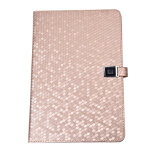 1xPU Leather Flip Case Cover for Apple iPad mini Magnetic clasp Book Style Multi-Function Protective Leather+1x Touch Pen Golden