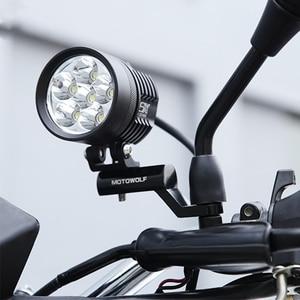 Image 3 - Yeni motosiklet genişleme rafı arka görünüm gidon ayna montaj adaptörü motosiklet ışık genişleme braketi telefon tutucu standı