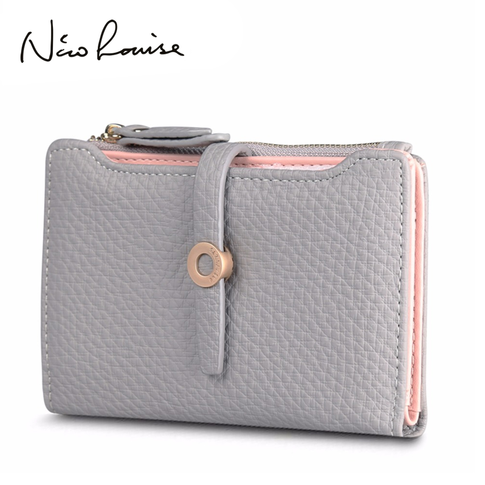 Top Quality Latest Lovely Leather Short Women Wallet Fashion Girls Change Clasp Purse Money Coin Card Holders wallets Carteras