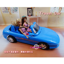 New Arrival Miniature Furniture Travel Car for Barbie Doll House Classic Toys for Girl Free Shipping