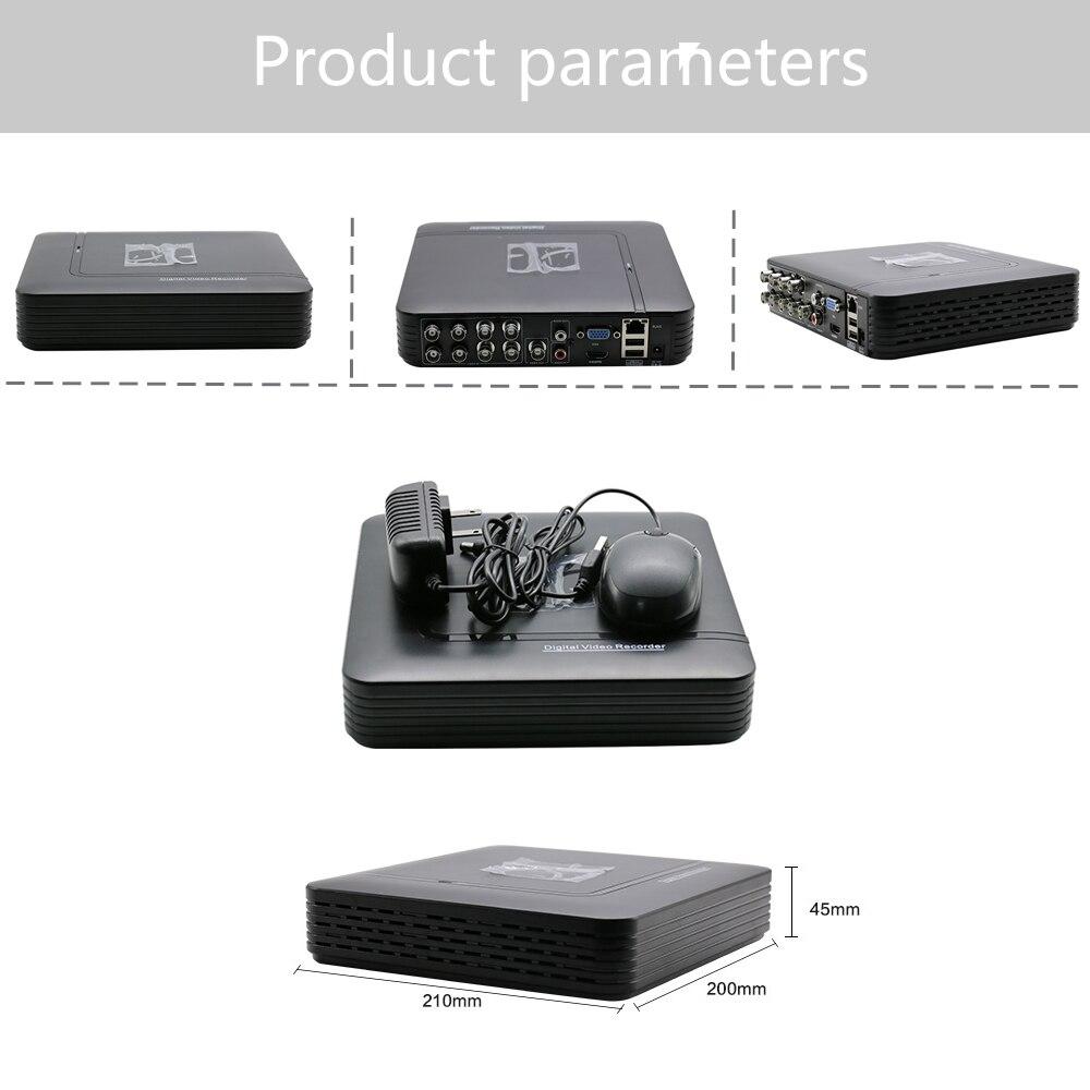 Hiseeu AHD 1080N 5IN1 HDMI NVR For IP Camera Onvif PTZ DVR 43 For CCTV Kit 8CH Camera CCTV DVR Mini DVR VGA Security System