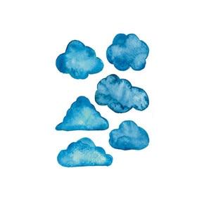 Image 4 - Adhesivos de pared creativos móviles, con decoración de nubes y cielo azul, decoración de ventanas para paredes