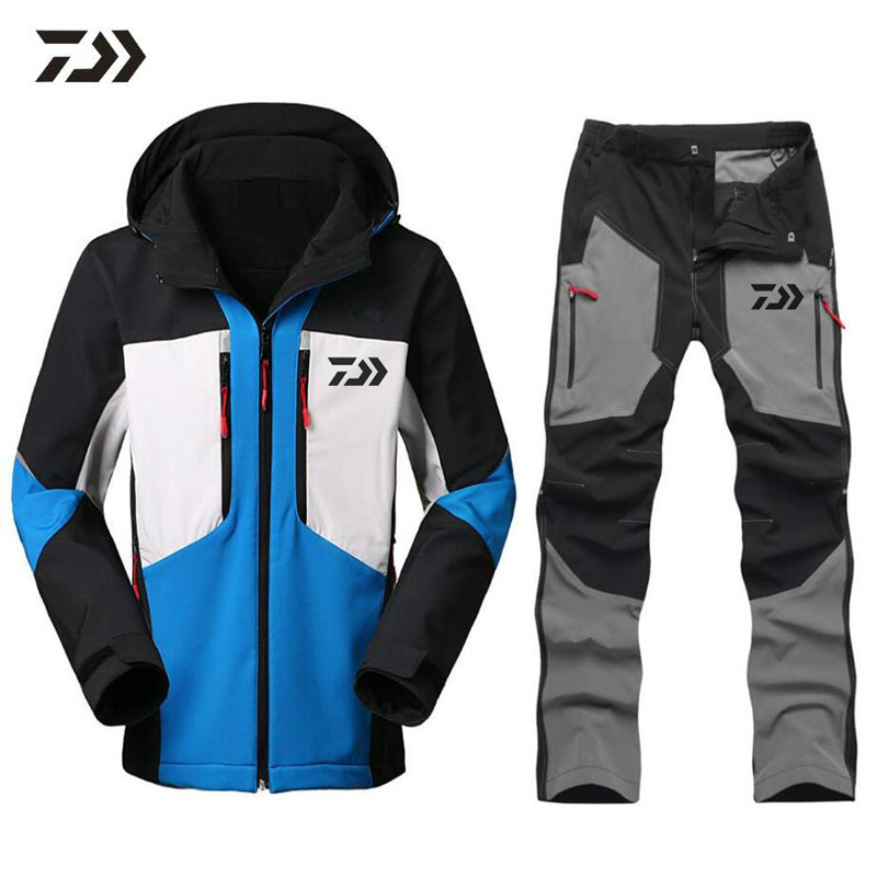 2018 Daiwa New Warm Half Zipper Fishing Clothing Sets Outdoor Sportswear Suit Breathable Sun Uv Protection Fishing Fishing Pants Bright In Colour Sports & Entertainment