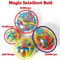 99 299 Steps 3D Magic Intellect Ball Marble Puzzle IQ Game Perplexus Magnetic Balls IQ Balance