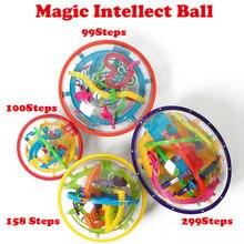 99-299 шагов 3d magic интеллект мяч Мрамор головоломки IQ игры Perplexus магнитных шариков IQ баланс игрушки развивающие классические игрушки