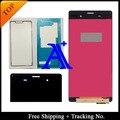 Бесплатная Доставка + Отслеживая Номер + Полный набор Клей 100% тестирование оригинальный Для Sony Xperia Z3 L55T D6603 ЖК-Экран Ассамблеи-5.2 дюймовый
