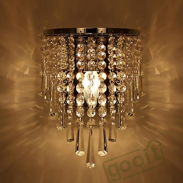 Modern crystal chandelier wall light lighting fixture 220v e14 led modern crystal chandelier wall light lighting fixture 220v e14 led ceiling lights aloadofball Gallery