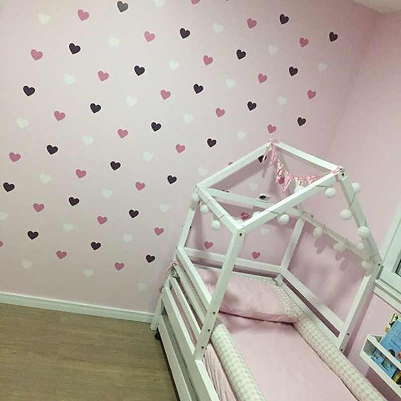 Heart Wall Sticker For Kids Room Baby Girl Room Decorative Stickers Nursery Bedroom Wall Decal Stickers Home Decoration