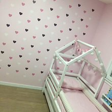 Heart Wall Sticker For Kids Room Baby Girl Room Decorative Stickers Nursery Bedroom Wall Decal Stickers Home Decoration(China)