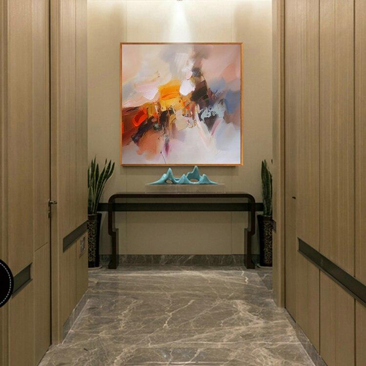 Yağlı rəsm kətan Orijinal əl ilə boyanan müasir divar - Ev dekoru - Fotoqrafiya 4