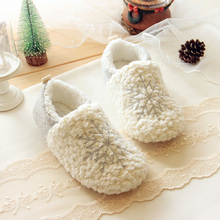 2015 Christmas snow winter high-end series Rongrong indoor warm shoes, electric show fresh snow cotton home slippers