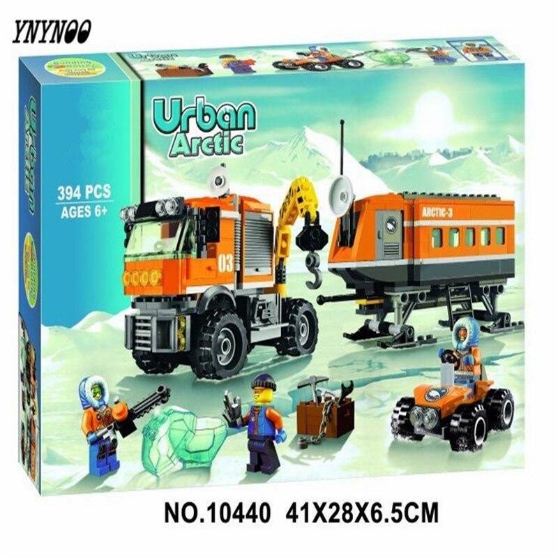 YNYNOO 394pcs 2016 BELA 10440 City Arctic Outpost Policemen building blocks Model Toys jail cell Bricks stark outpost 16 2016 blue orange