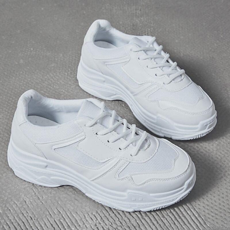 forme Femme Chaussure Pour Femmes Plate Chaussures Casual Blanc Sport Panier Vulcaniser White black Des Printemps Sneakers Noir xTw0n6