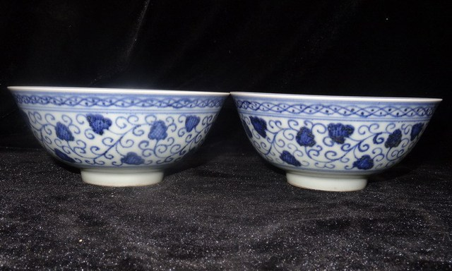 Ming dynasty yongle blue and white porcelain flowers and plants a ming dynasty yongle blue and white porcelain flowers and plants a pair of bowl chinese old mightylinksfo