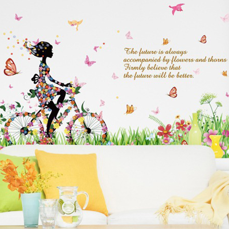 Cycling Bike Wall Sticker Removable Vinyl Decal Home Living Room Office Decor ...