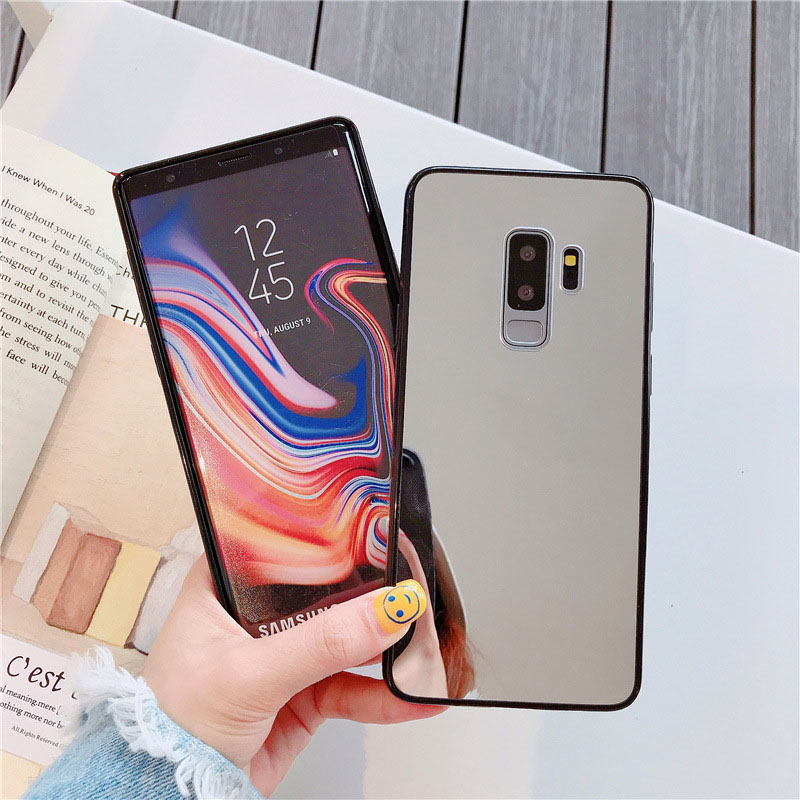 Image 4 - Luxury Bling Makeup Mirror Phone Case For Samsung S8 S9 S10 Plus S7 Edge A5 2017 J6 Plus A50 A70 NOTE 9 Shockproof TPU Cover-in Fitted Cases from Cellphones & Telecommunications