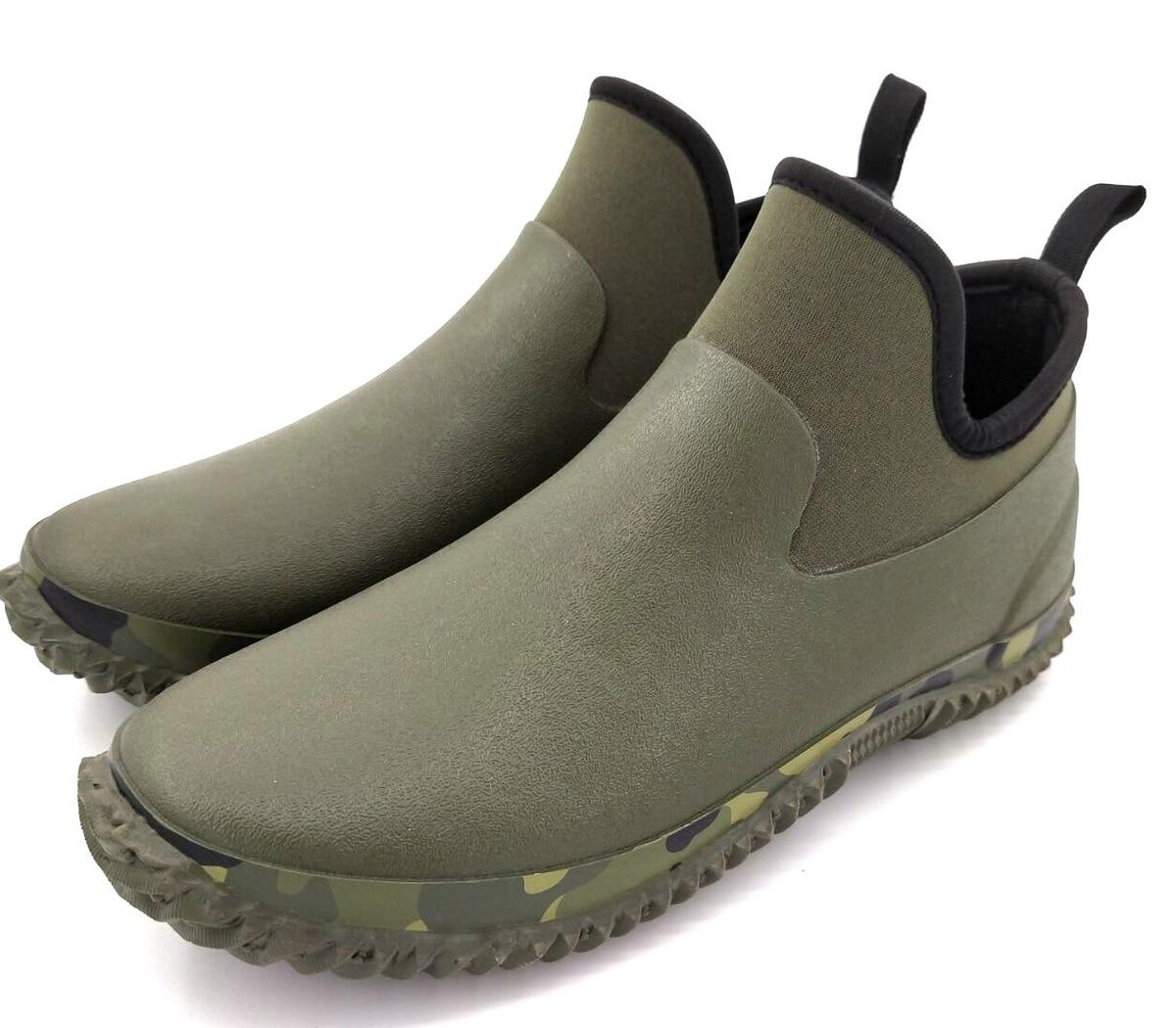 Imperméable à l'eau Eu 35-46 chaussures de pluie en caoutchouc bottes hommes antidérapant en plein air pêche voiture lavage jardin travail Aqua Wader chaussures d'eau femmes