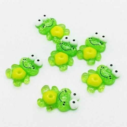 10 pcs 16*24mm Sapo Natator Scrapbooking Resina Cabochões Craft DIY Novo Multicolor