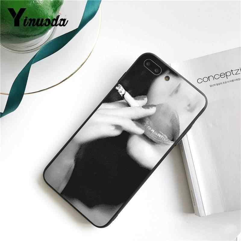Yinuoda آيفون 7 6 X قضية مثير سيدة السجائر التدخين السيليكون لينة الهاتف حقيبة لهاتف أي فون 7 6X8 6s زائد 5s SE XR XS XSMAX