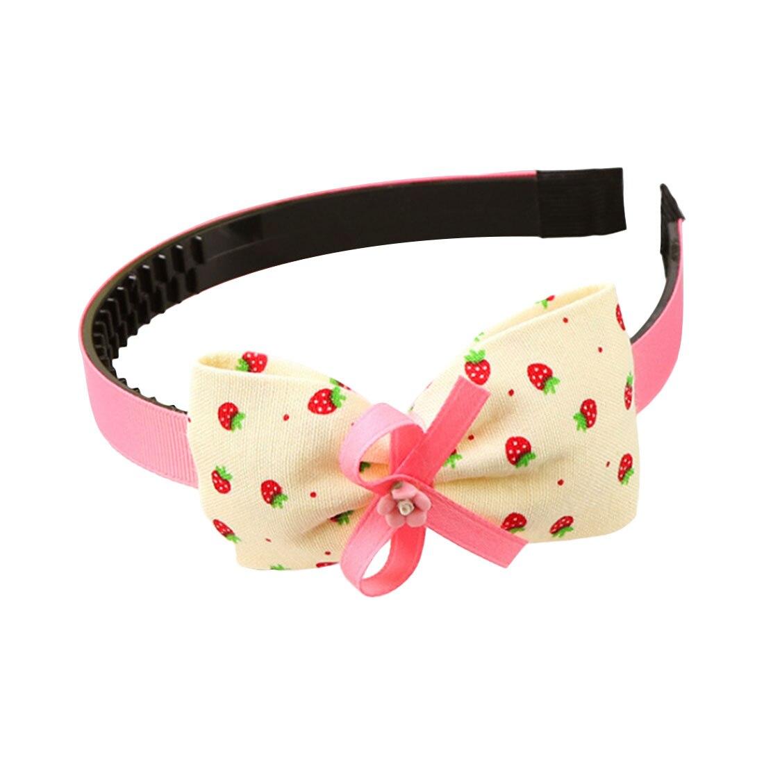 Children Plastic Headband Cute Big Bows Flower Spot Hairband Girls Lovely Hair Band Headwear Kids Gifts Hair Accessories