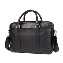 JMD Genuine Leather Laptop Bag Top Handle Mens Handbag For Buisness 7349A