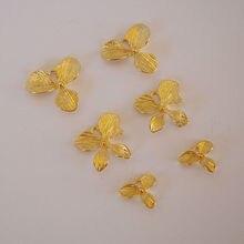 Цветы орхидеи соединитель Подвески латунные металлические фурнитура DIY аксессуары для изготовления ювелирных изделий