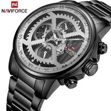 NAVIFORCE Для мужчин s спортивные часы Для мужчин лучший бренд класса люкс Полный Сталь кварц Автоматическая Дата часы мужчина армии военные водонепроницаемые часы