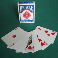 1 Deck Bicycle Blank Back Playing Cards Gaff Standard Magic Cards Special Props Close Up Stage