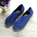 Hand-made Flat Shoes Women Genuine Leather Round-toe Slip on Loafers Ladies Flat Shoes Woman Casual Footwear (988)