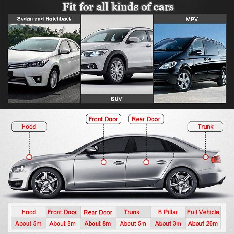 cheapest Car 2 4 16 25 Meters Car Door Sealing Strips Sticker Weatherstrip Rubber Seals Sound Insulation Sealing Automobiles Accessories