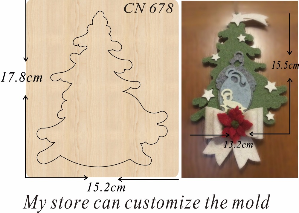 Christmas Tree/2  New Wooden Mould Cutting Dies For Scrapbooking Thickness-15.8mm