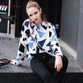 Quintina impresas nueva manera de las mujeres camisa de primavera más el tamaño de señora camisas blusas femininas vendimia mujeres tops casual blusa de las mujeres