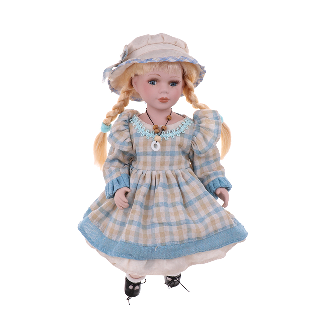 Great Christmas Gift - 40cm Porcelain Girl Doll Sitting Doll Collectible Ceramics Dolls with Adjustable Display Stands #1