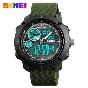 Image 2 - Skmei 새로운 야외 스포츠 시계 럭셔리 브랜드 디지털 쿼츠 시계 남자 방수 군사 육군 손목 시계 relogio masculino