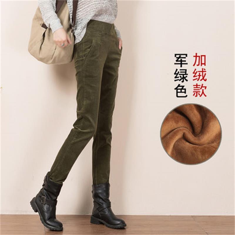 Plus Size 27-40 Women Pencil Pants high waist Skinny Black Thick Velvet Warm Winter Leggings corduroy Feminina Trousers T745