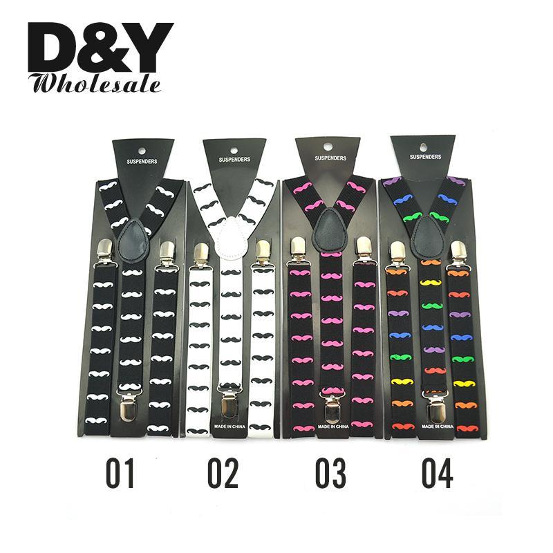 Popular Design Men Women Clip-on Suspender BowTie Combo Adjustable Music White