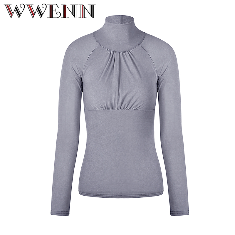 Turtleneck Women Blouses Summer Tops Tees New Style 2018 Casual Lace