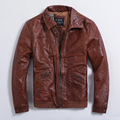 Men's leather jacket Small lapel Slim coat Plus cotton coat